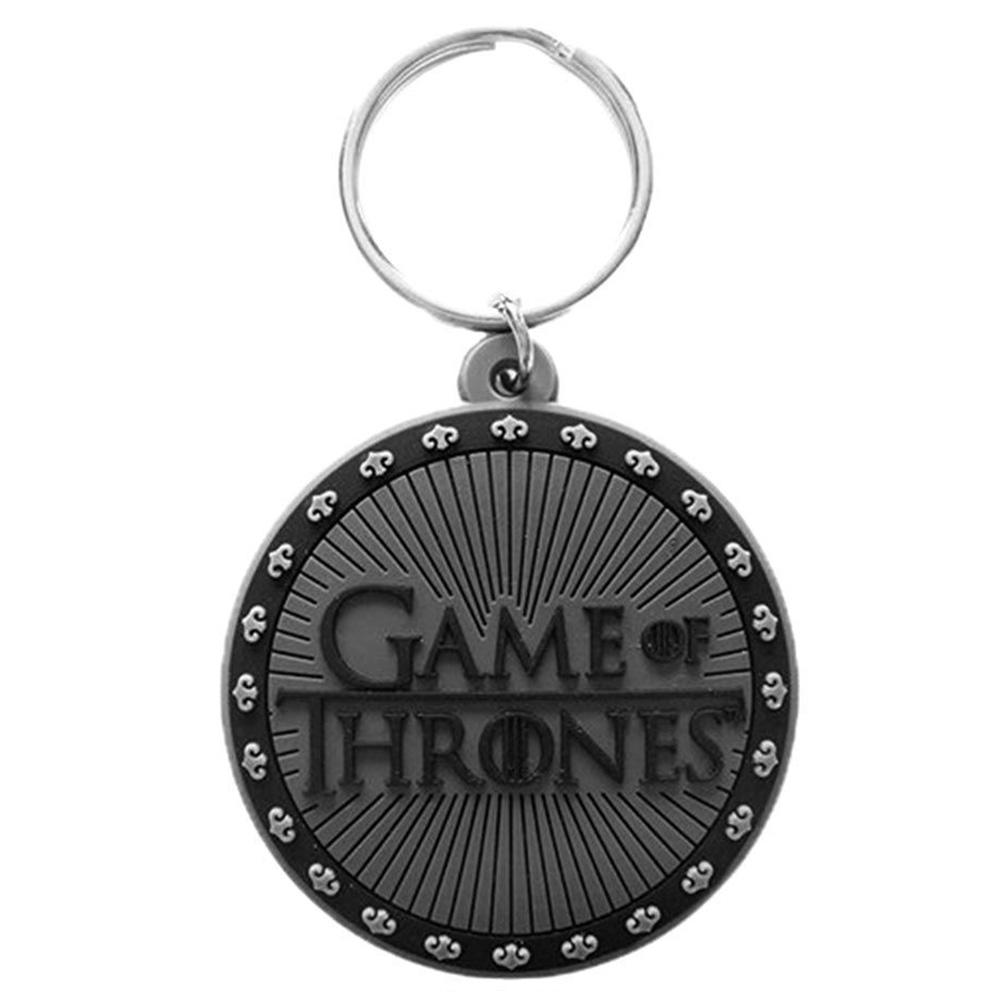 GAME OF THRONES ゲーム・オブ・スローンズ (10周年 ) - Logo / ラバー・キーリング / キーホルダー 【公式 / オフィシャル】