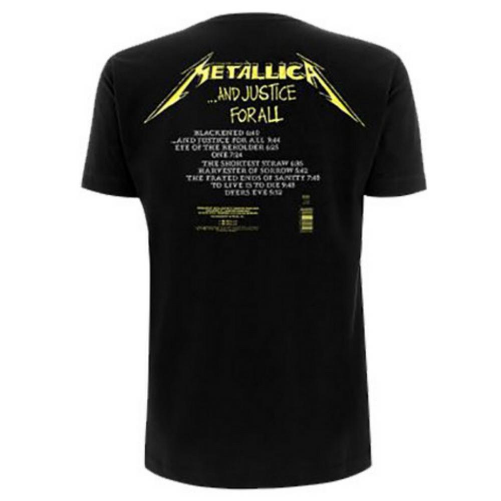 METALLICA メタリカ - And Justice For All Tracks / バックプリントあり / Tシャツ / メンズ 【公式 / オフィシャル】