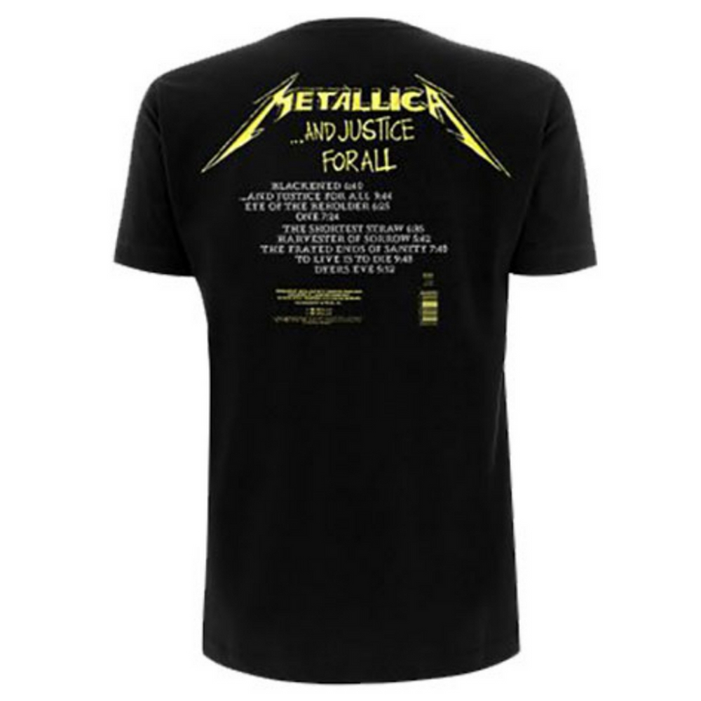 METALLICA メタリカ (結成40周年 ) - And Justice For All Tracks / バックプリントあり / Tシャツ / メンズ 【公式 / オフィシャル】