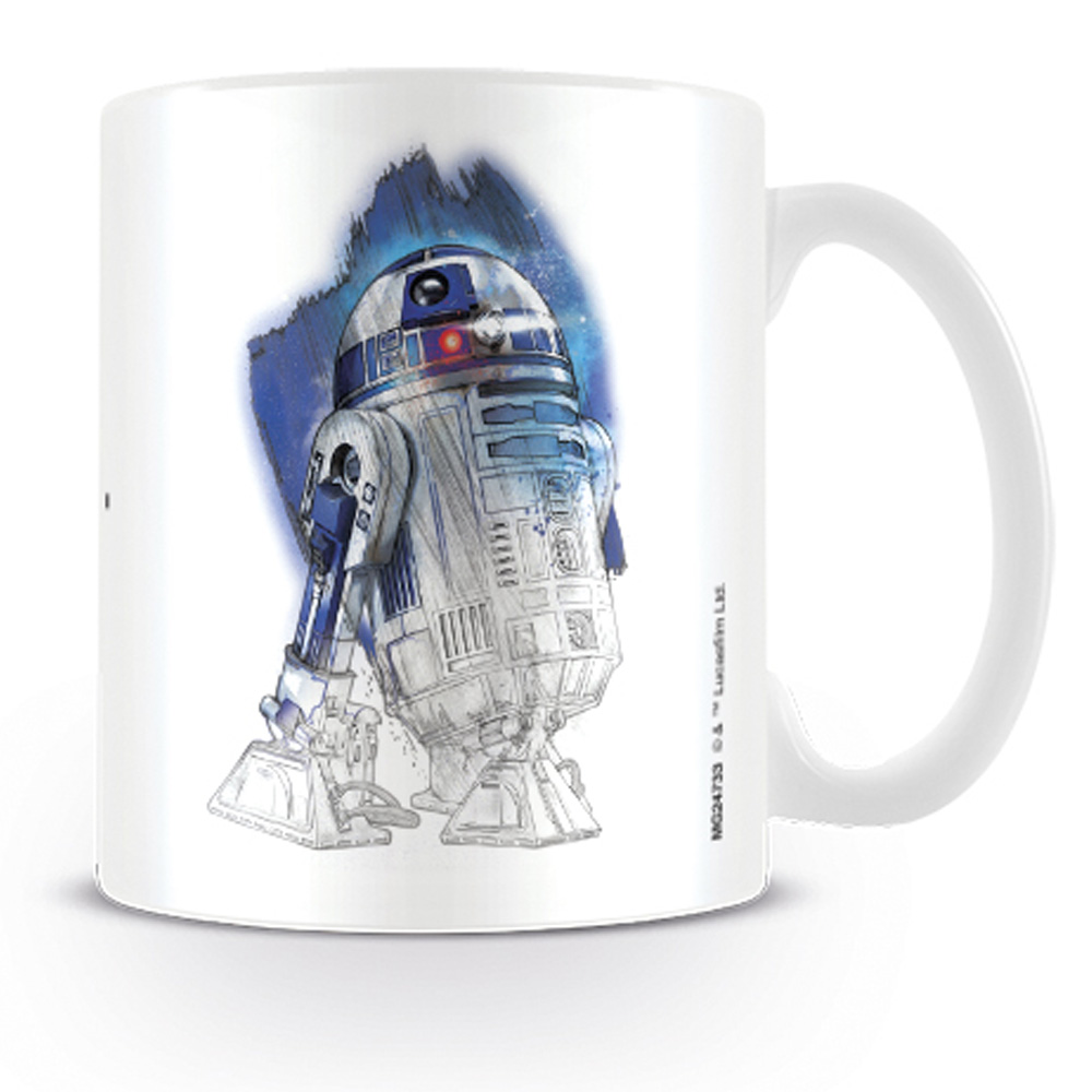 STAR WARS スターウォーズ - R2-D2 Brushstroke / マグカップ 【公式 / オフィシャル】