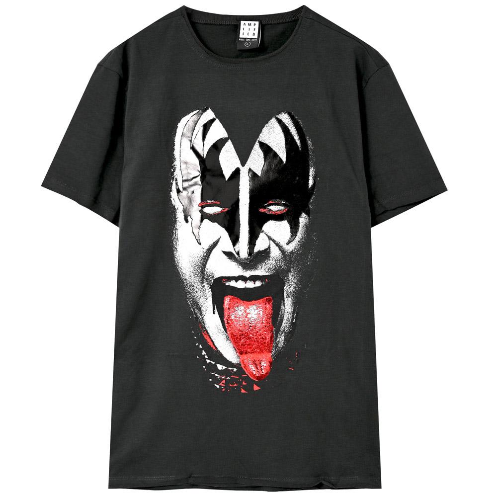 KISS キッス - 【世界限定500着 Foil Print特別仕様】Gene Simmons / Amplified( ブランド ) / Tシャツ / メンズ 【公式 / オフィシャル】