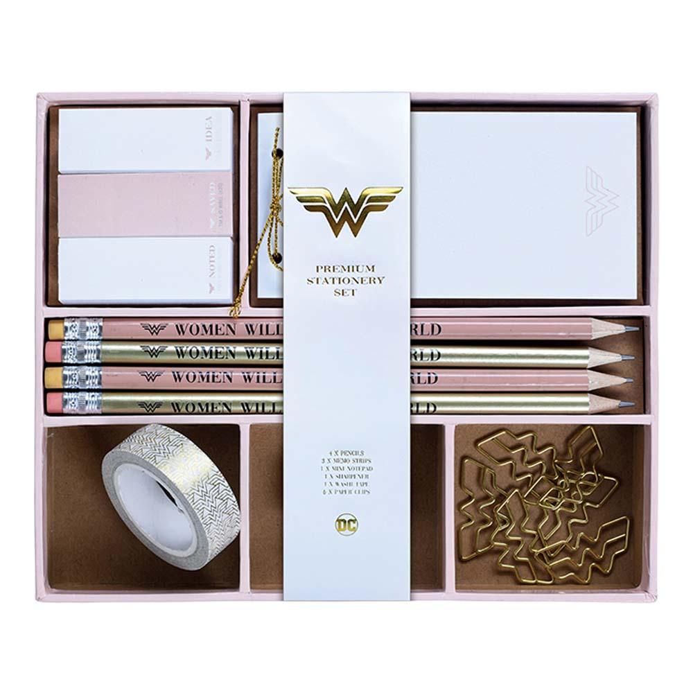 WONDER WOMAN ワンダーウーマン - Save the World / Premium Stationery Set / 文房具 【公式 / オフィシャル】