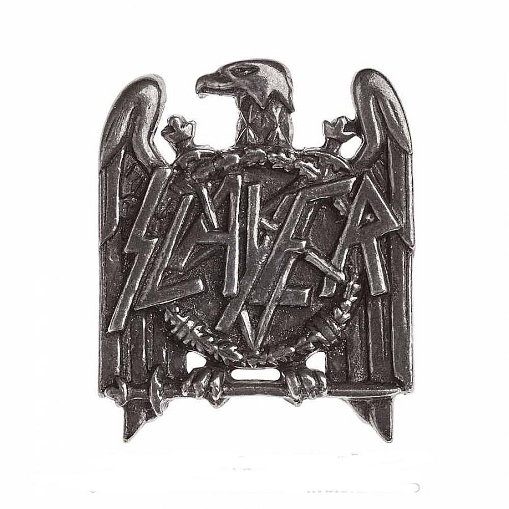 SLAYER スレイヤー (結成40周年 ) - EAGLE / Alchemy(ブランド) / バッジ 【公式 / オフィシャル】