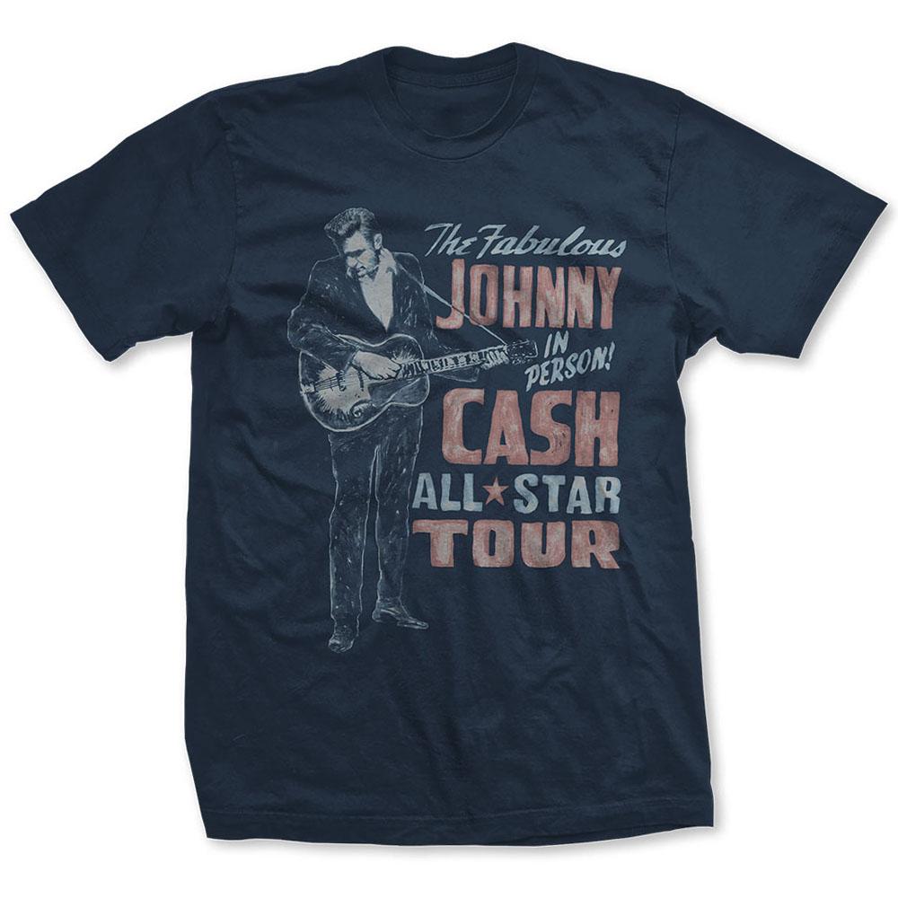 JOHNNY CASH ジョニーキャッシュ - All Star Tour / バックプリントあり / Tシャツ / メンズ 【公式 / オフィシャル】