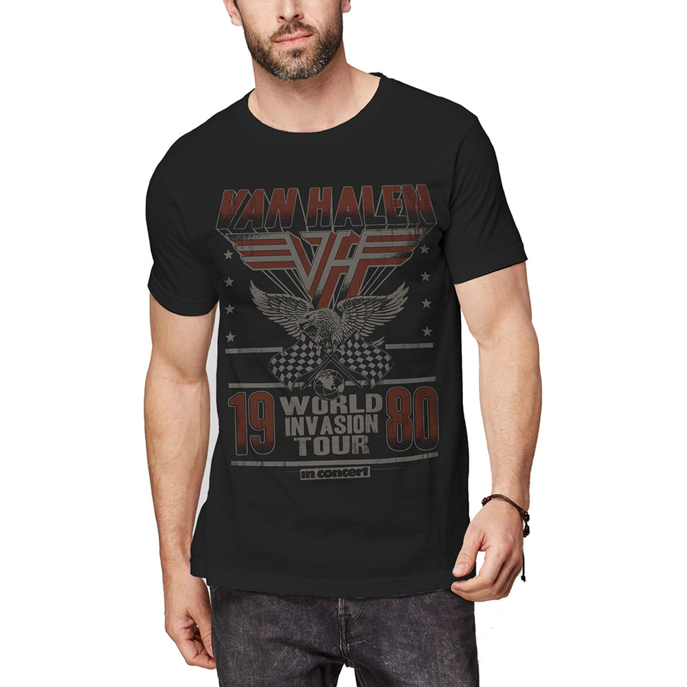 VAN HALEN ヴァンヘイレン - Invasion Tour '80 / Tシャツ / メンズ 【公式 / オフィシャル】