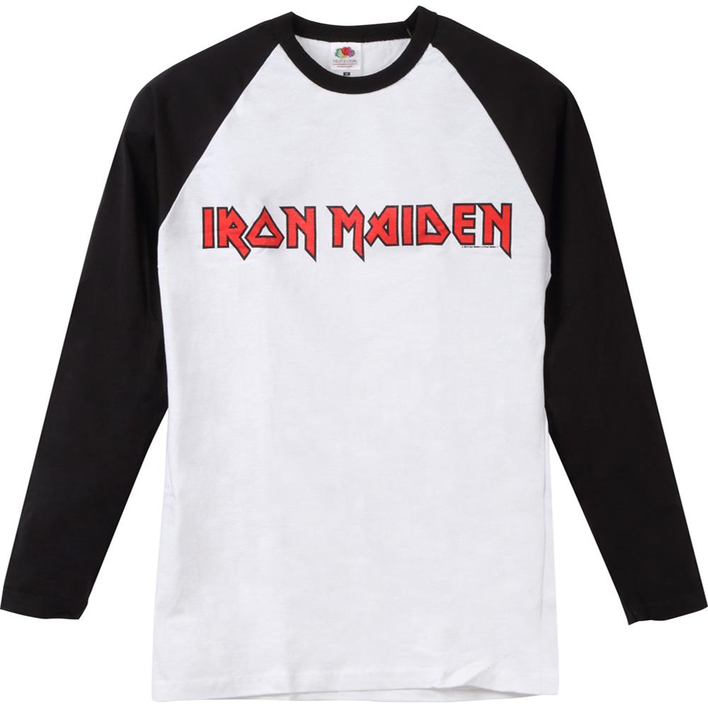 IRON MAIDEN アイアンメイデン (結成45周年 ) - LOGO / ラグラン / 長袖 / Tシャツ / メンズ 【公式 / オフィシャル】