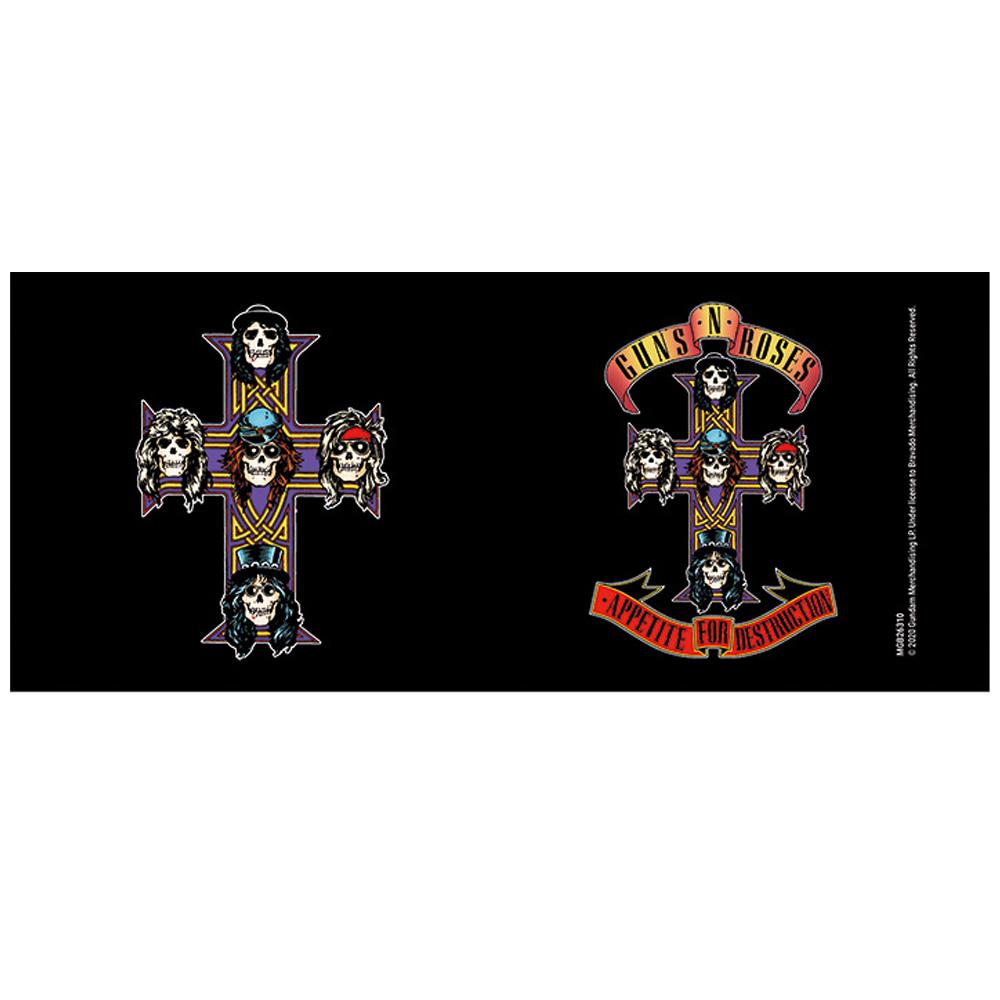 GUNS N ROSES ガンズアンドローゼズ (デビュー35周年記念 ) - Appetite Cross / Black / マグカップ 【公式 / オフィシャル】