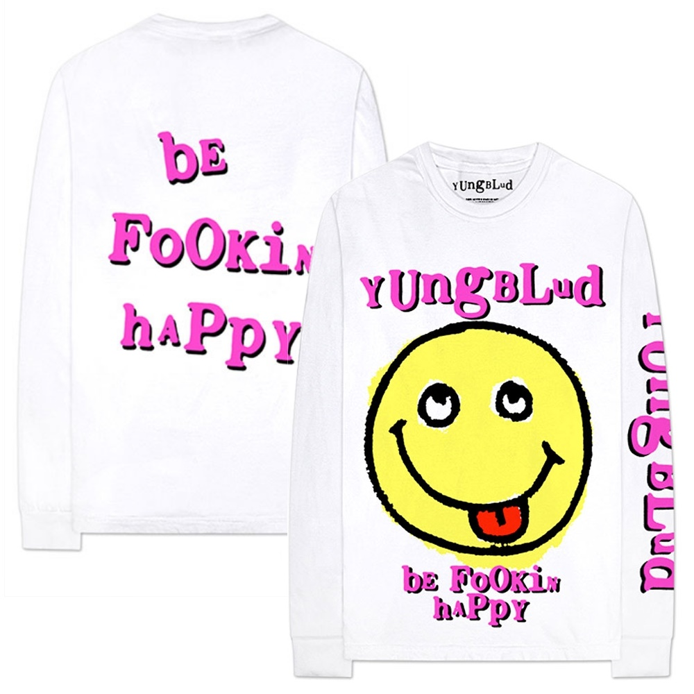 YUNGBLUD ヤングブラッド - Raver Smile / アーム&バックプリントあり / 長袖 / Tシャツ / メンズ 【公式 / オフィシャル】