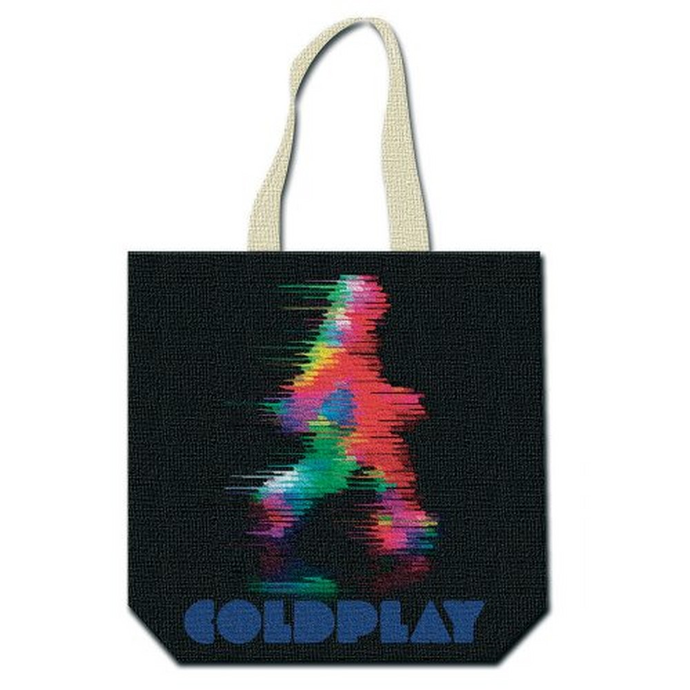 COLDPLAY コールドプレイ (結成25周年 ) - Fuzzy Man/ETIAW (with zip top) / トートバッグ 【公式 / オフィシャル】