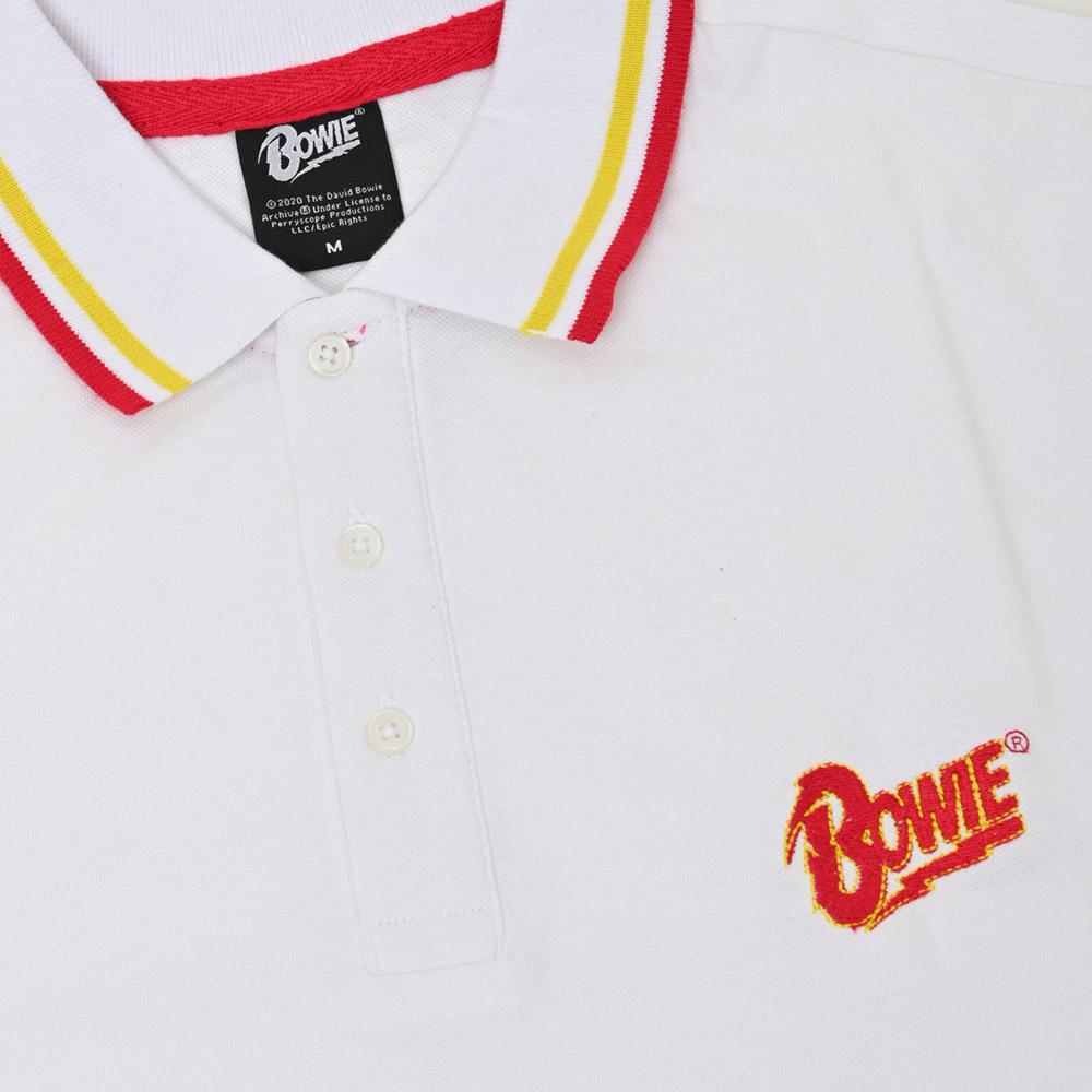 DAVID BOWIE デヴィッド・ボウイ (追悼5周年 ) - 【限定】Flash Logo / シャツ(襟付き) / メンズ 【公式 / オフィシャル】