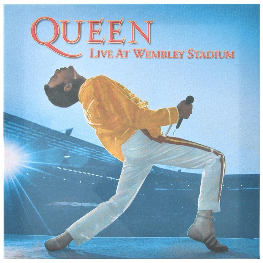 QUEEN クイーン (フレディ追悼30周年 ) - Live at Wembley Stadium/ キャンバス・プリント木枠(40×40×3.8cm) / インテリア額 【公式 / オフィシャル】