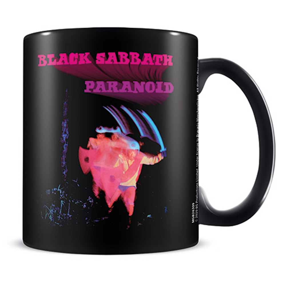 BLACK SABBATH ブラックサバス - Paranoid / Black / マグカップ 【公式 / オフィシャル】
