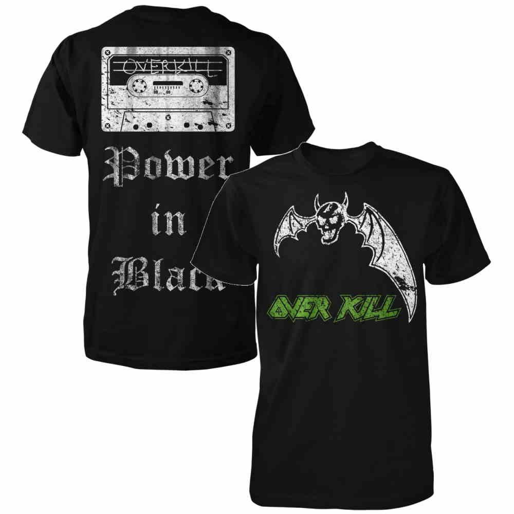 OVERKILL オーヴァーキル - Power In Black / バックプリントあり / Tシャツ / メンズ 【公式 / オフィシャル】
