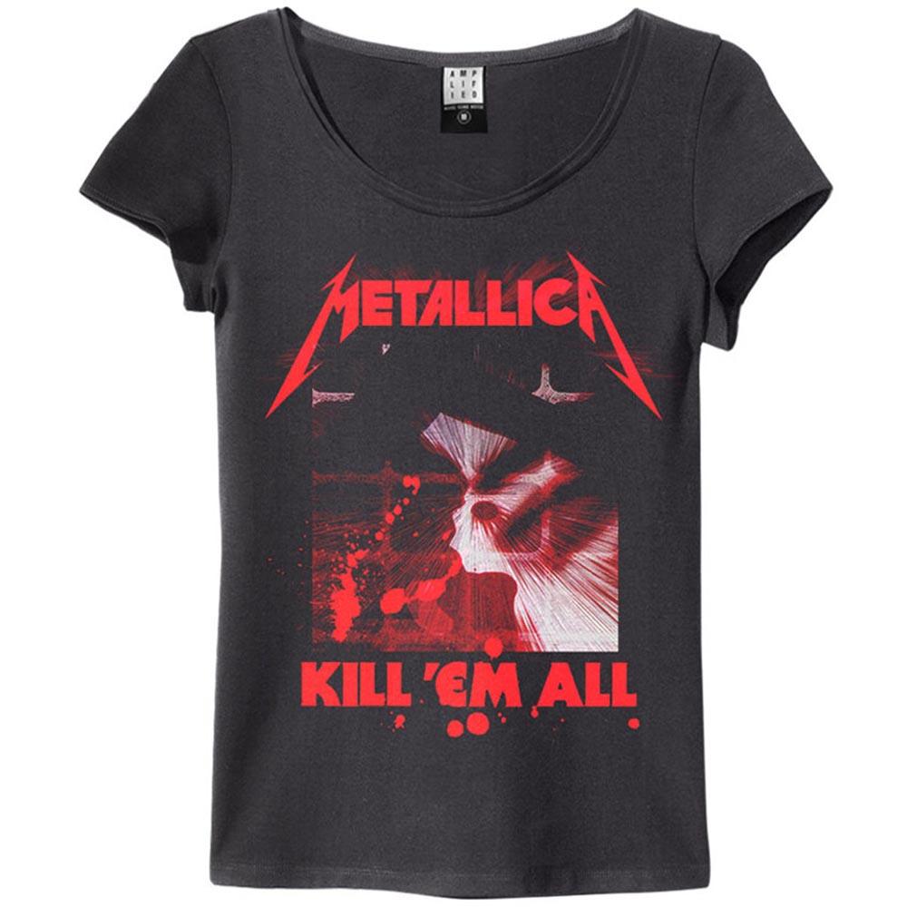METALLICA メタリカ (結成40周年 ) - KILL EM ALL / Amplified( ブランド ) / Tシャツ / レディース 【公式 / オフィシャル】