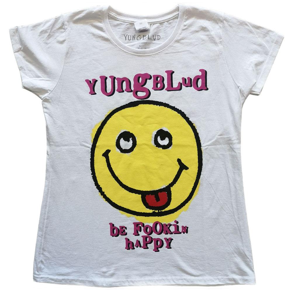 YUNGBLUD ヤングブラッド - Raver Smile / バックプリントあり / Tシャツ / レディース 【公式 / オフィシャル】