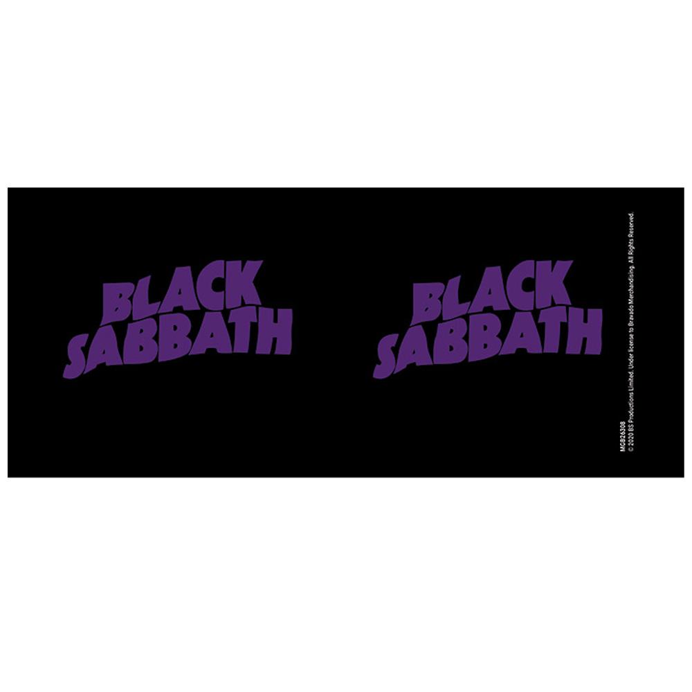 BLACK SABBATH ブラックサバス - MOR Logo / Black / マグカップ 【公式 / オフィシャル】