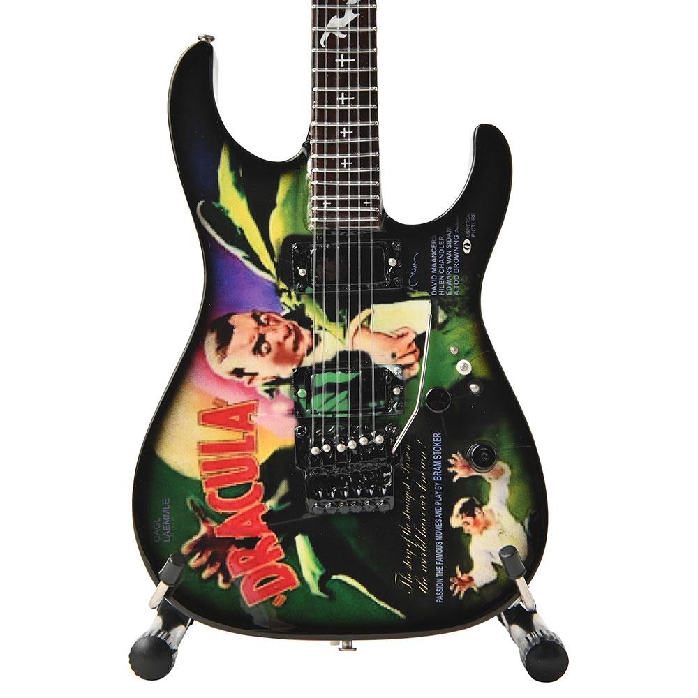 "METALLICA メタリカ (結成40周年 ) - Kirk Hammett Signature ""Dracula"" Miniature Guitar Replica Collectible / ミニチュア楽器 【公式 / オフィシャル】"