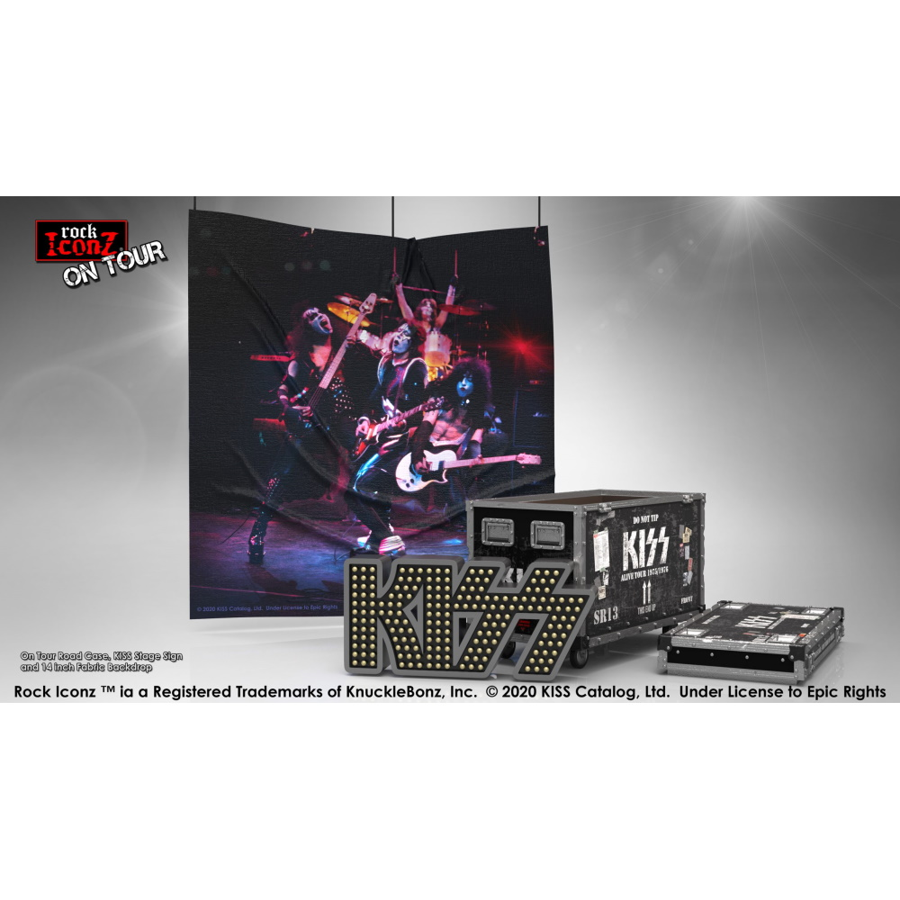 【予約商品】 【プレゼント付き】 KISS キッス - Alive! Road Case On Tour Collectible / 世界限定3000セット / インテリア置物 【公式 / オフィシャル】