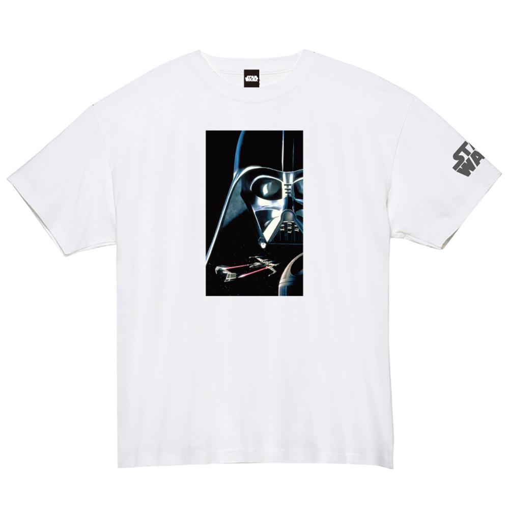 STAR WARS スターウォーズ - 蓄光ロゴTシャツ(ダース・ベイダー) / ホワイト / 限定商品 / Tシャツ / メンズ 【公式 / オフィシャル】