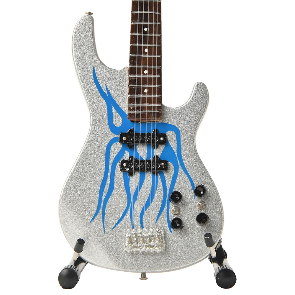 METALLICA メタリカ (結成40周年 ) - Robert Trujillo Metallica Blue Flame Miniature Bass Guitar Replica Collectible / ミニチュア楽器 【公式 / オフィシャル】