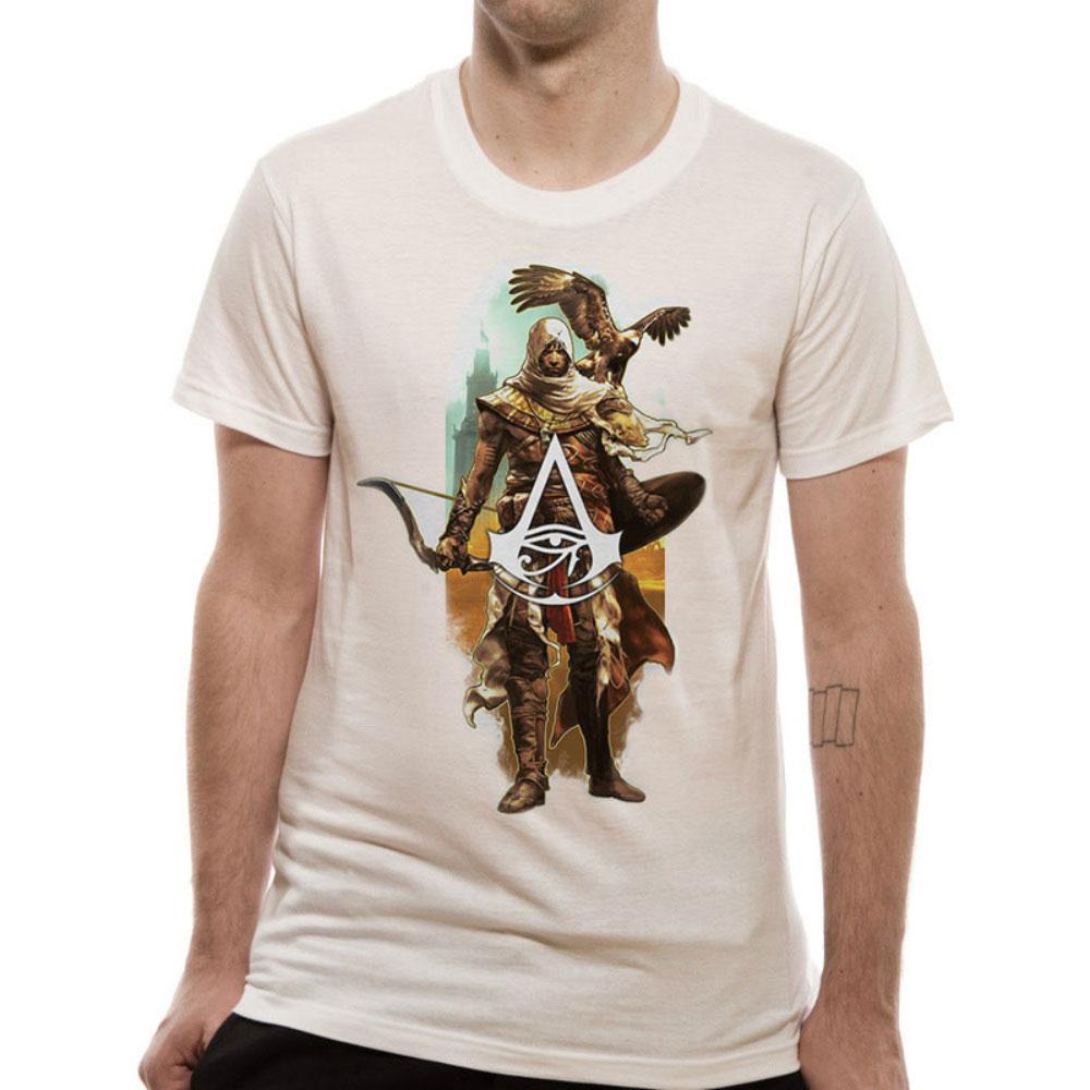 ASSASSINS CREED アサシンクリード (ヴァルハラ ) - CHARACTER AND EAGLE / Tシャツ / メンズ 【公式 / オフィシャル】