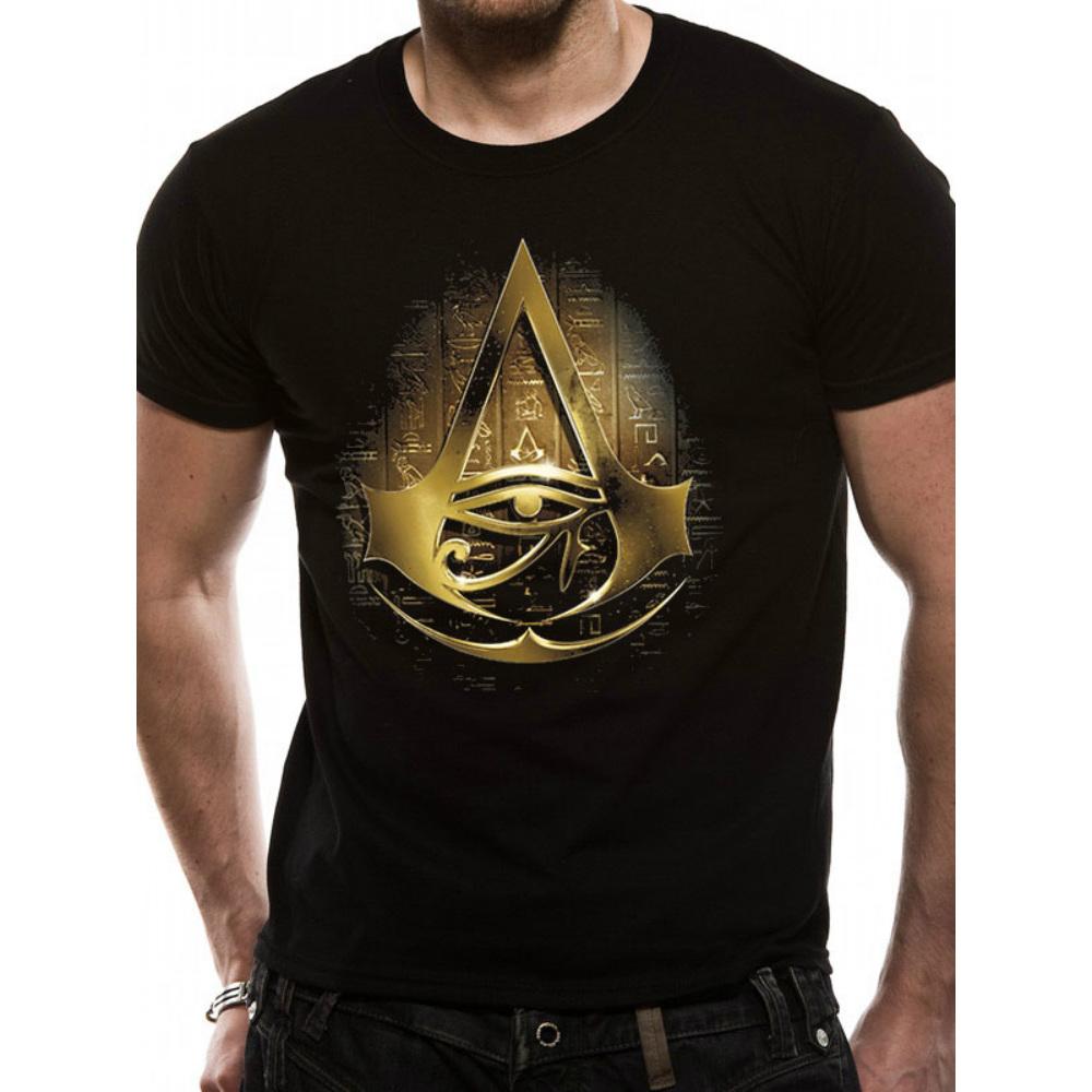 ASSASSINS CREED アサシンクリード (最新昨ヴァルハラ発売記念 ) - GOLD HIEROGLYPH / Tシャツ / メンズ 【公式 / オフィシャル】