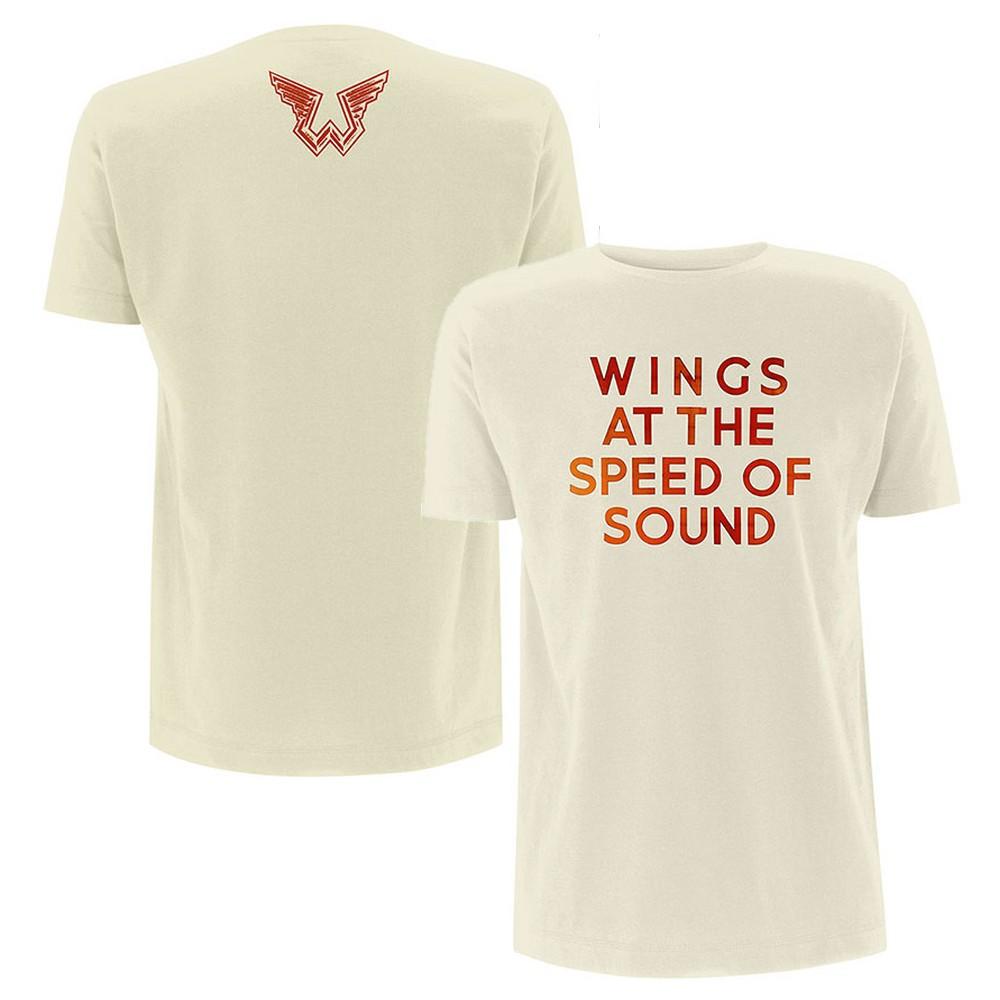 PAUL MCCARTNEY ポールマッカートニー - Wings at the Speed of Sound / バックプリントあり / Tシャツ / メンズ 【公式 / オフィシャル】