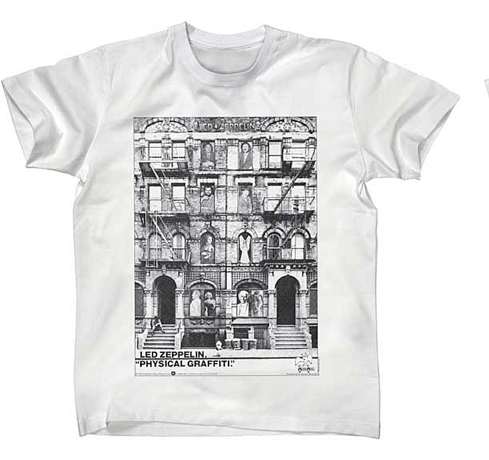 LED ZEPPELIN レッドツェッペリン (ジョン・ボーナム追悼40周年 ) - PHYSICAL GRAFFITI / Tシャツ / メンズ 【公式 / オフィシャル】