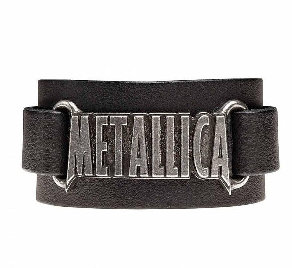 METALLICA メタリカ (結成40周年 ) - LOGO / Alchemy(ブランド) / ブレスレット 【公式 / オフィシャル】