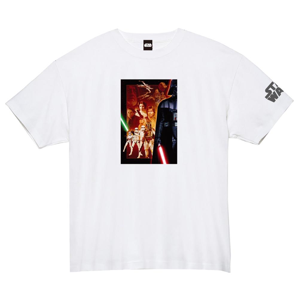 STAR WARS スターウォーズ - 蓄光ロゴTシャツ(集合) / ホワイト / 限定商品 / Tシャツ / メンズ 【公式 / オフィシャル】