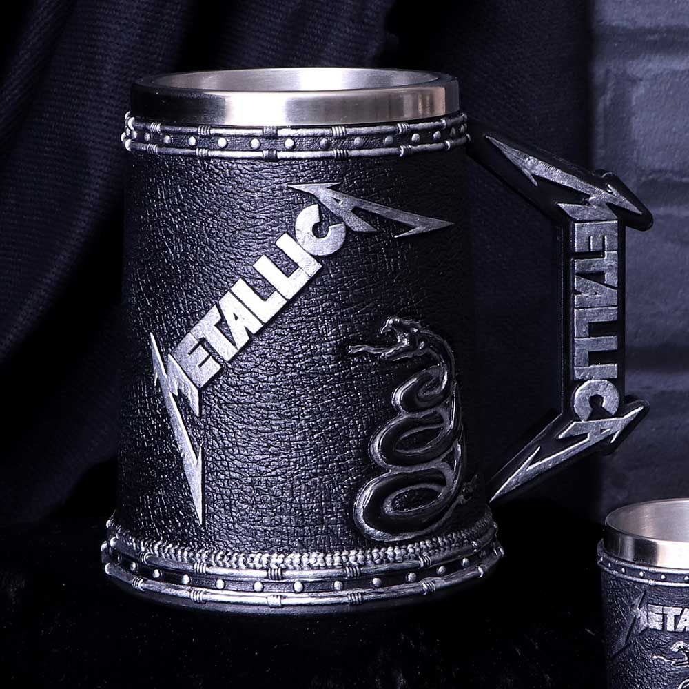 METALLICA メタリカ (結成40周年 ) - BLACK ALBUM / TANKARD / 食器・グラス 【公式 / オフィシャル】