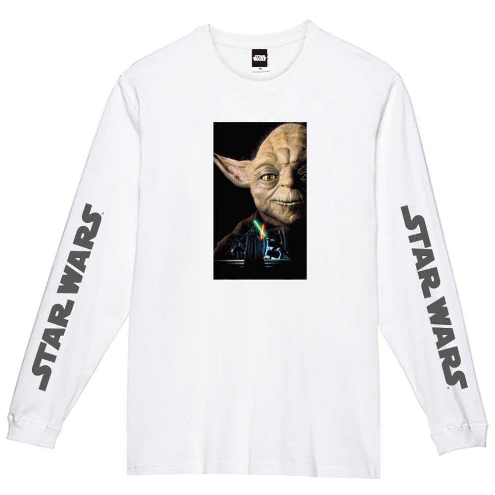 STAR WARS スターウォーズ - 蓄光ロゴロングスリーブTシャツ(ヨーダ) / ホワイト / 長袖 / 限定商品 / Tシャツ / メンズ 【公式 / オフィシャル】