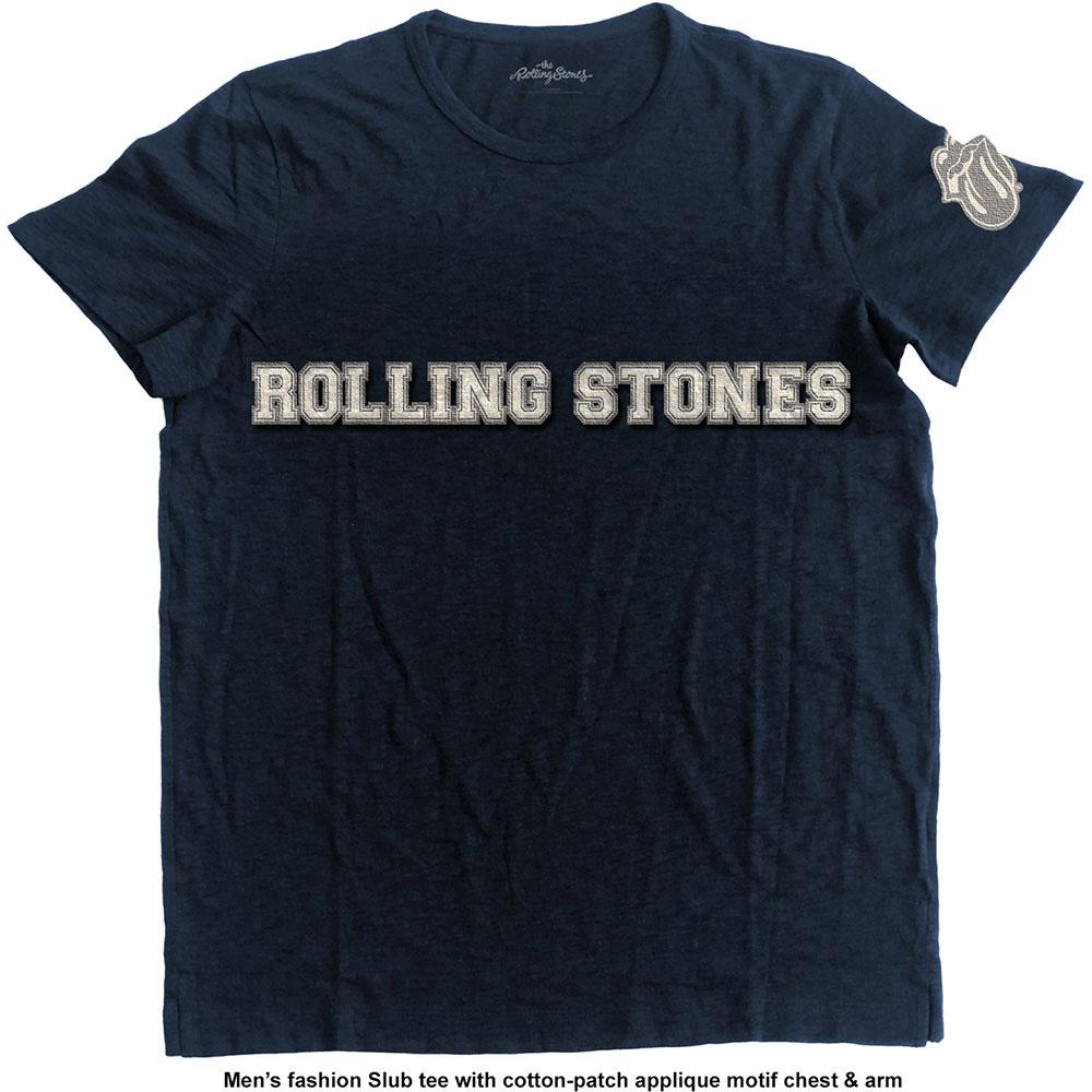 ROLLING STONES ローリングストーンズ (映画『GIMME SHELTER』公開50周年 ) - LOGO & TONGUE WITH APPLIQUE MOTIFS / Black Label(ブランド) / Tシャツ / メンズ 【公式 / オフィシャル】