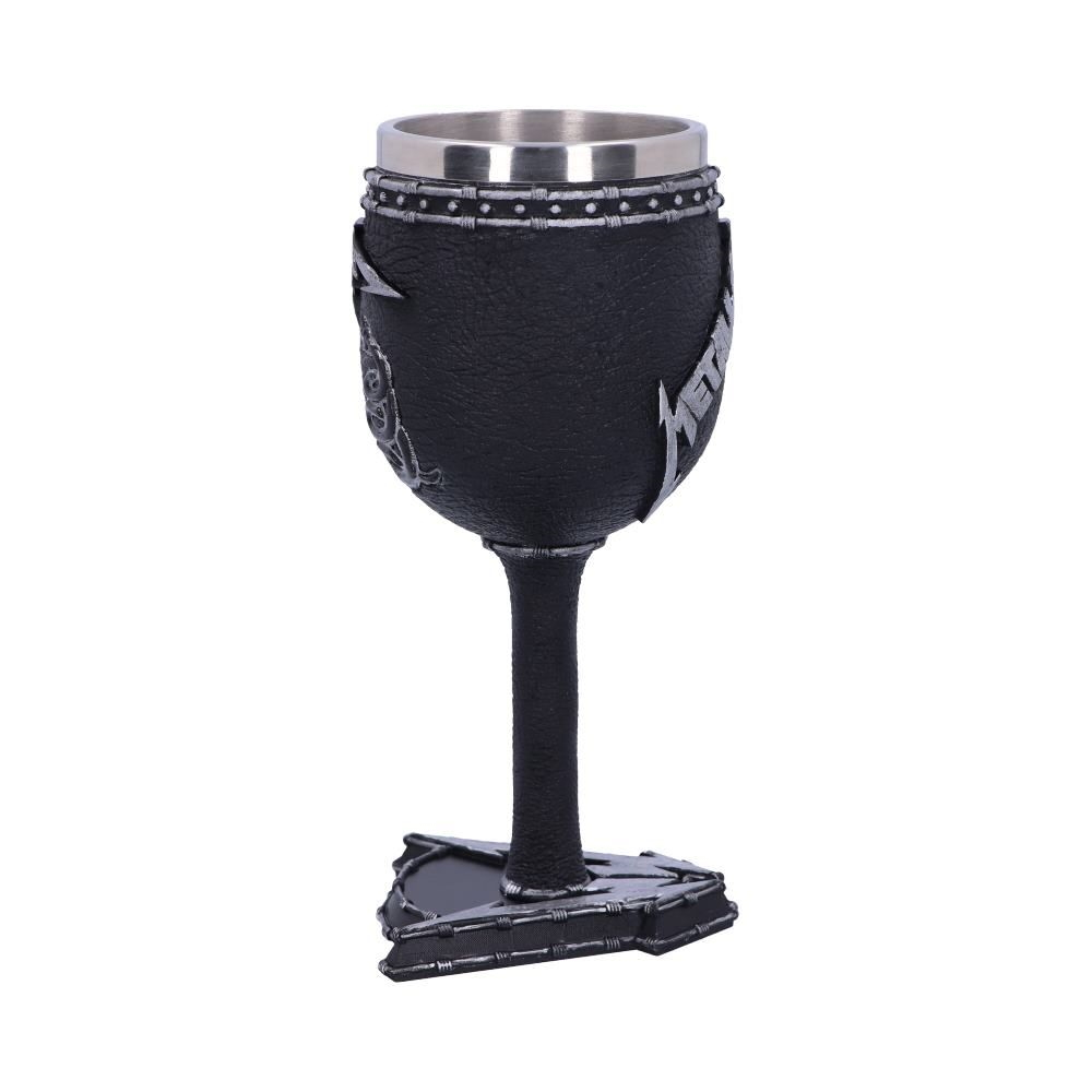 METALLICA メタリカ (結成40周年 ) - BLACK ALBUM GOBLET WINE GLASS / 食器・グラス 【公式 / オフィシャル】