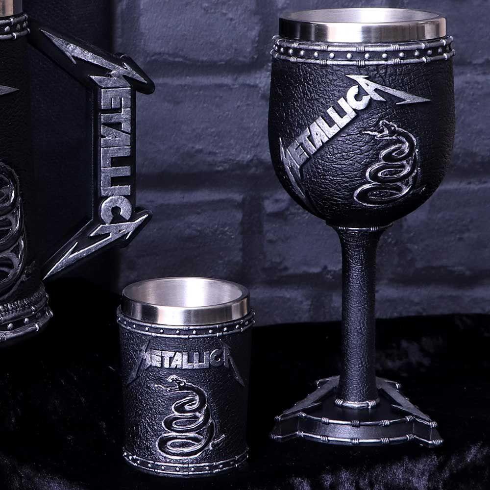 METALLICA メタリカ (結成40周年 ) - BLACK ALBUM / GOBLET / 食器・グラス 【公式 / オフィシャル】
