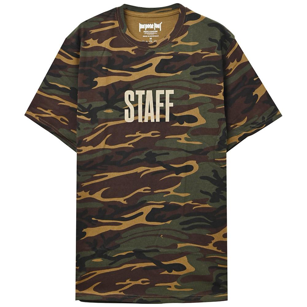 JUSTIN BIEBER ジャスティンビーバー - Purpose Tour Staff (Ex-Tour / バックプリントあり) / Tシャツ / メンズ 【公式 / オフィシャル】