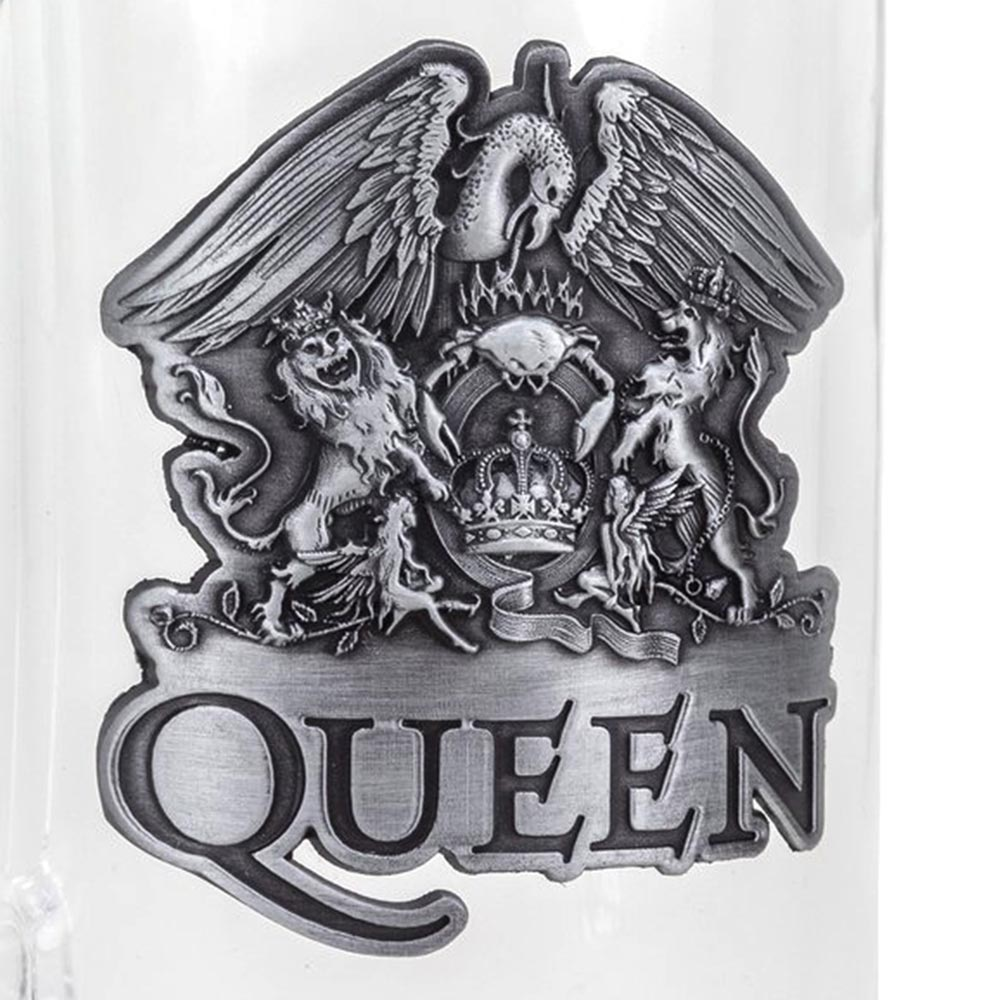 QUEEN クイーン (フレディ追悼30周年 ) - Crest ビールジョッキ / 食器・グラス 【公式 / オフィシャル】