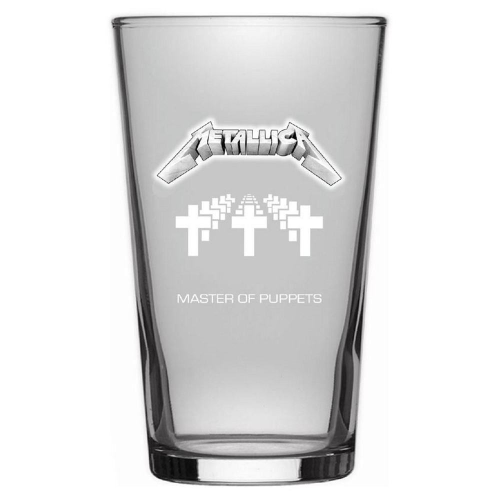 METALLICA メタリカ (結成40周年 ) - MASTER OF PUPPETS / Beer Glass / 食器・グラス 【公式 / オフィシャル】