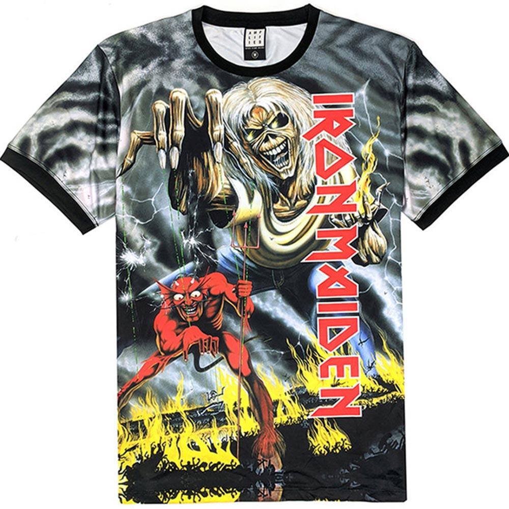 IRON MAIDEN アイアンメイデン (結成45周年 ) - NUMBER OF THE BEAST / バックプリントあり / Amplified( ブランド ) / Tシャツ / メンズ 【公式 / オフィシャル】