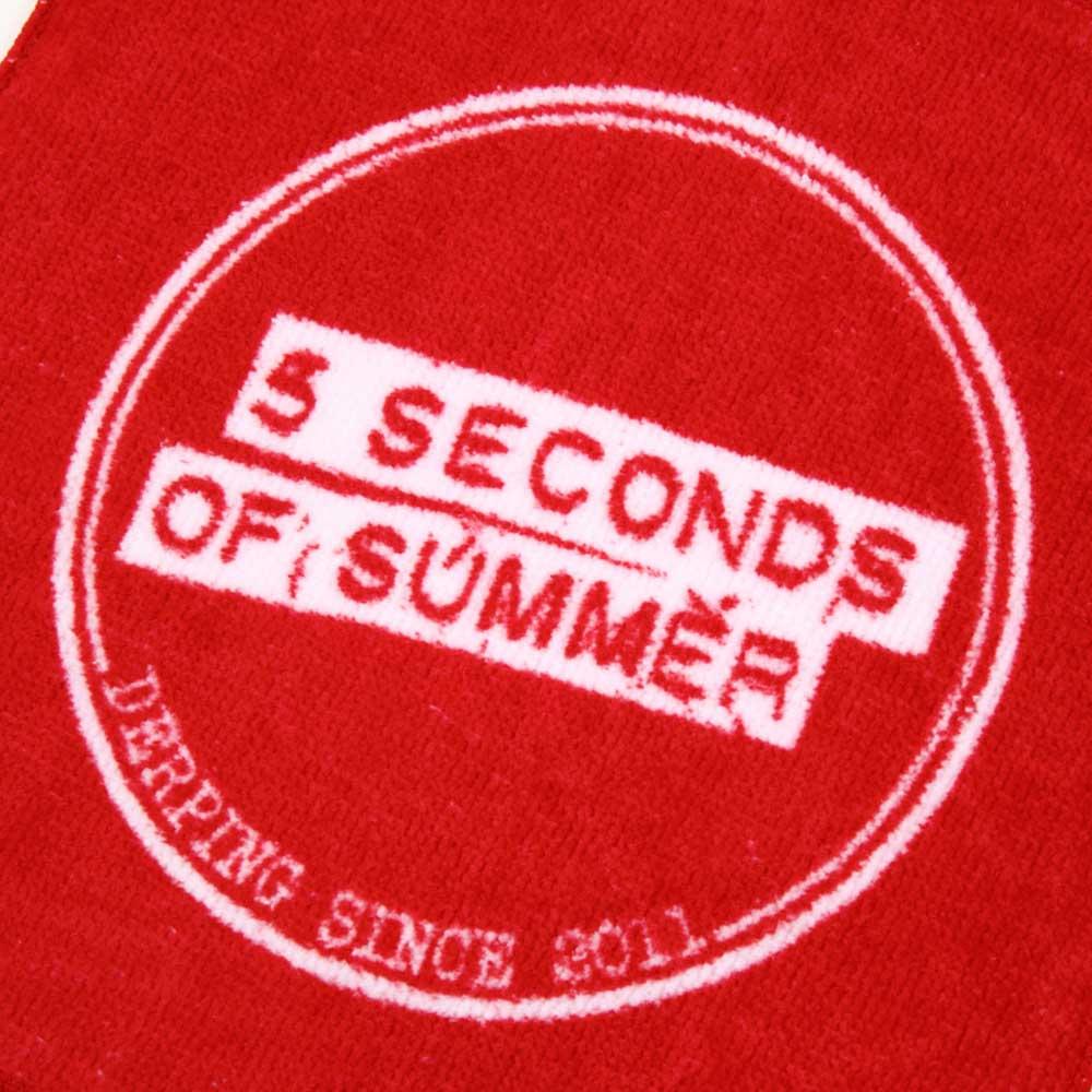 日本限定公式商品 5 SECONDS OF SUMMER ファイヴセカンズオブサマー (結成10周年 ) - 5SOS公式ハンドタオル / タオル 【公式 / オフィシャル】