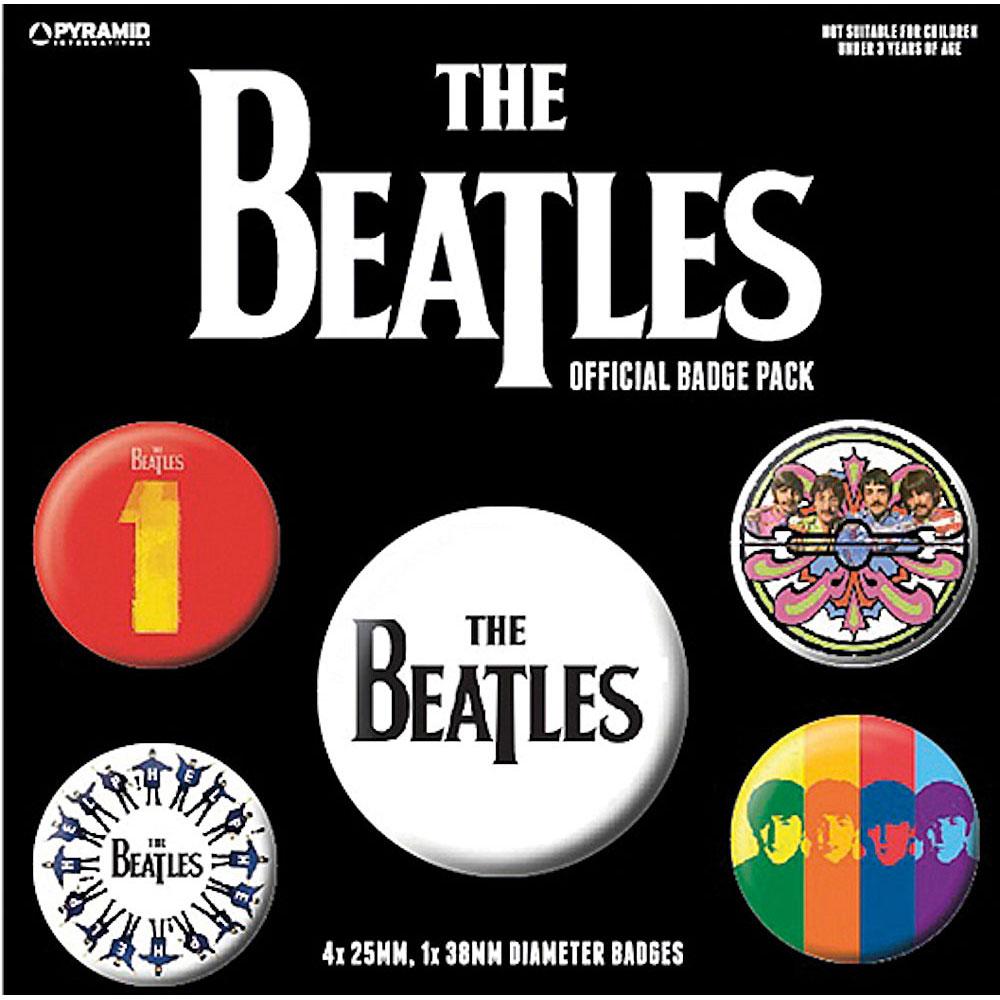 BEATLES ビートルズ (来日55周年記念 ) - The Beatles 1 5個セット / バッジ 【公式 / オフィシャル】