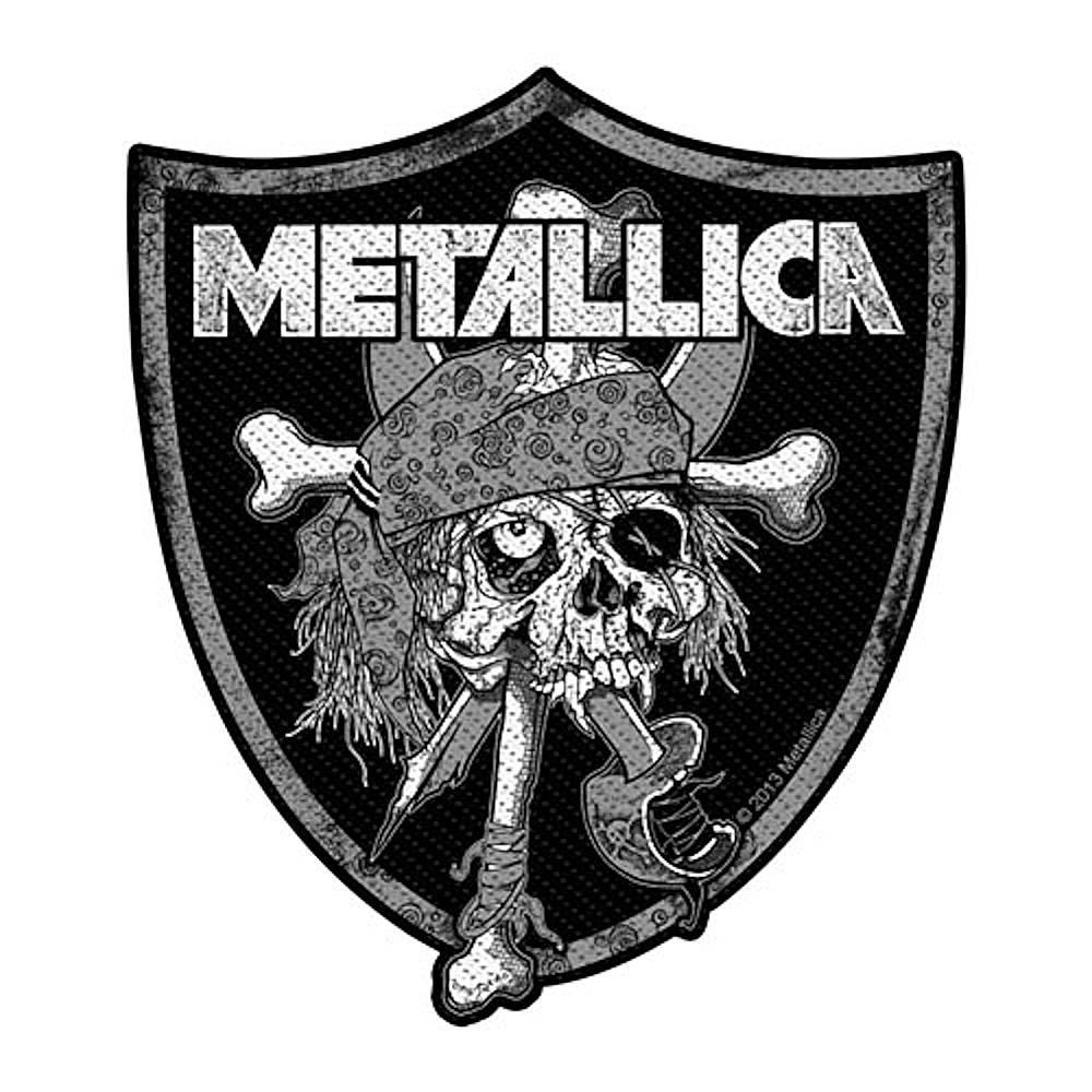 METALLICA メタリカ (結成40周年 ) - RAIDERS SKULL / ワッペン 【公式 / オフィシャル】
