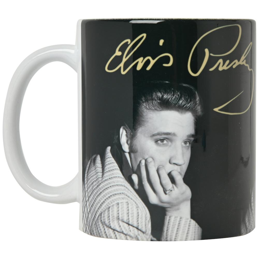 ELVIS PRESLEY エルヴィスプレスリー (RCAデビュー65周年記念 ) - SIGNATURE / マグカップ 【公式 / オフィシャル】