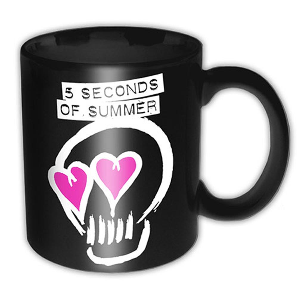 5 SECONDS OF SUMMER ファイヴセカンズオブサマー (結成10周年 ) - LOGO BLACK / マグカップ 【公式 / オフィシャル】