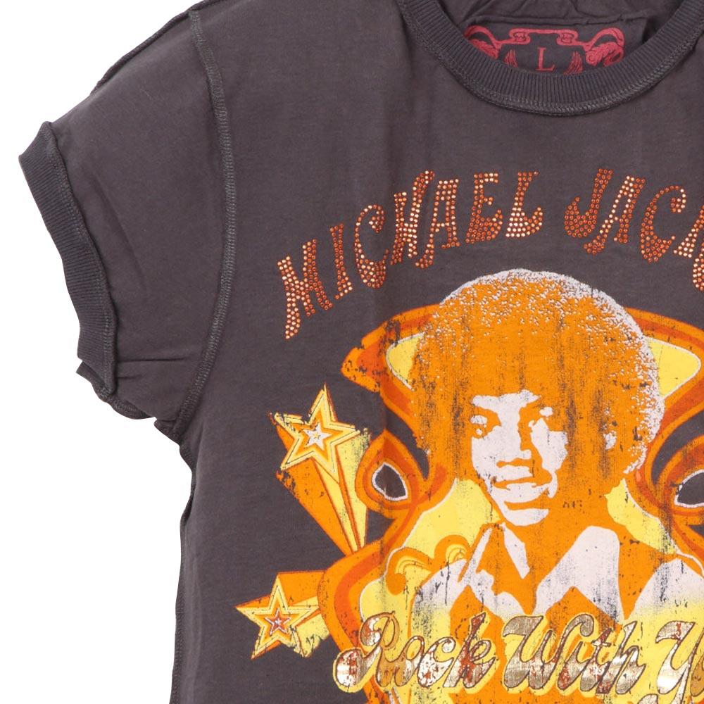 MICHAEL JACKSON マイケルジャクソン - ROCK WITH YOU / Amplified( ブランド ) / Tシャツ / レディース 【公式 / オフィシャル】