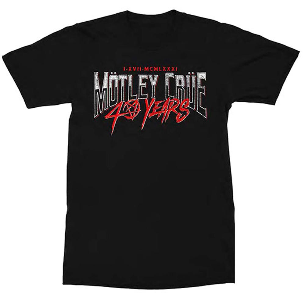 MOTLEY CRUE モトリークルー (結成40周年 ) - 40 Years / バックプリントあり / Tシャツ / メンズ 【公式 / オフィシャル】