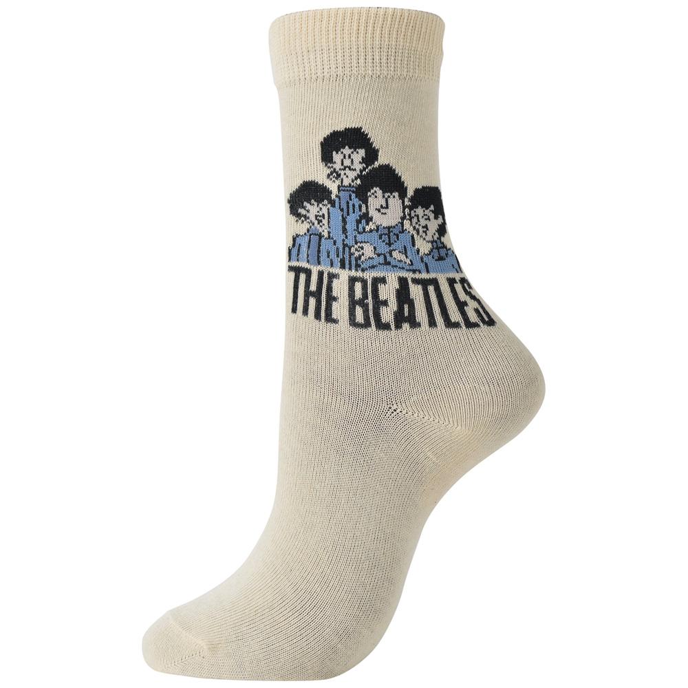 BEATLES ビートルズ (来日55周年記念 ) - Cartoon Group / ソックス / レディース 【公式 / オフィシャル】