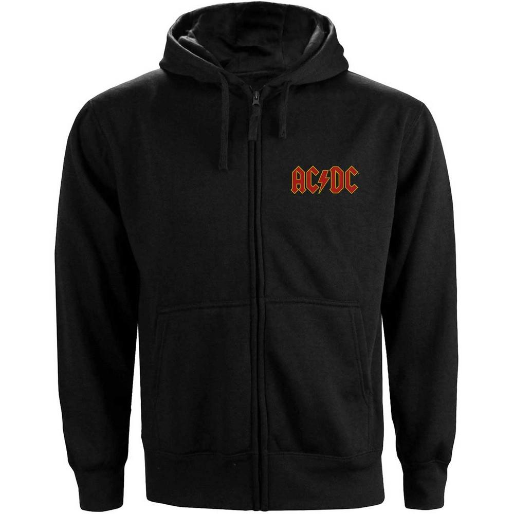 AC/DC エーシーディーシー (初来日40周年 ) - Logo / バックプリントあり / ジップ / スウェット・パーカー / メンズ 【公式 / オフィシャル】