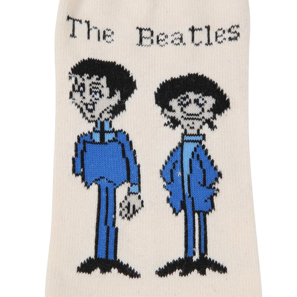 BEATLES ビートルズ (来日55周年記念 ) - Cartoon Standing / ソックス / レディース 【公式 / オフィシャル】