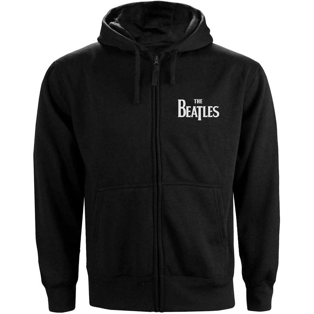 BEATLES ビートルズ (来日55周年記念 ) - Drop T Logo / バックプリントあり / ジップ / スウェット・パーカー / メンズ 【公式 / オフィシャル】